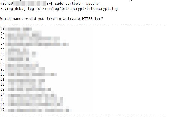 Kostenlose SSL Verschlüsselung mit Certbot und Lets Encrypt